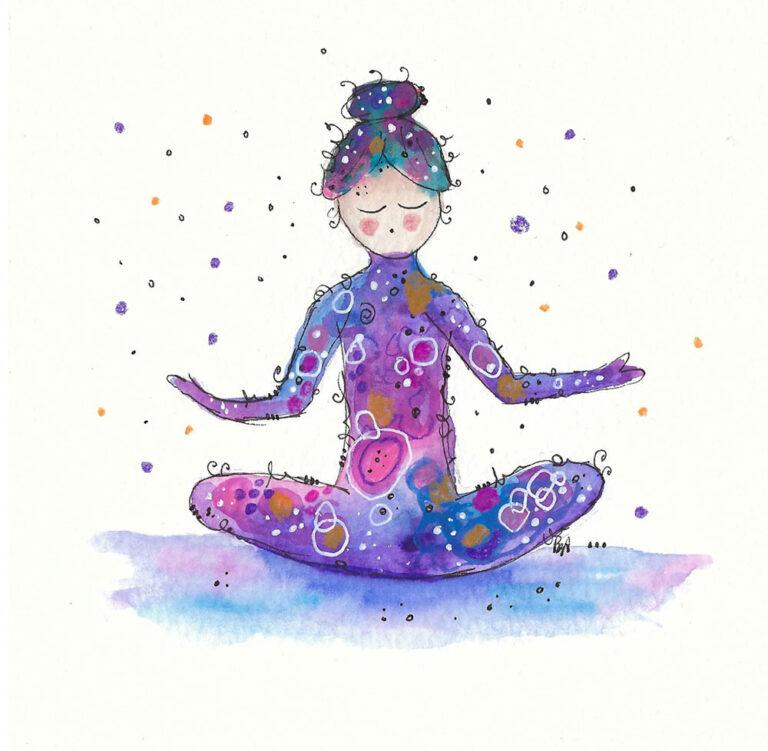 Yoga happy painting